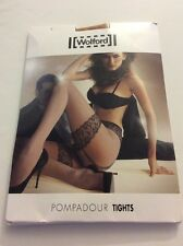 NEW Wolford POMPADOUR Tights Size SMALL  Sahara / Black