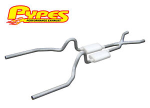 "1965-1970 Ford Mustang 260 289 302 351W Pypes 2.5"" Exhaust System Kit w/ X Pipe"