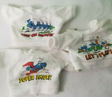 Vintage 1983 SMURF / Smurfette Plush Doll Clothes Wardrobe Outfits shirt super