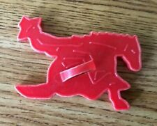 Cowboy On Bucking Bronco - Vintage Plastic Cookie Cutter From 1950'S