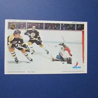 KEN DRYDEN BOBBY ORR  MONTREAL CANADIENS BOSTON BRUINS 1971-72 Pro Star postcard