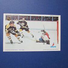 KEN DRYDEN BOBBY ORR  MONTREAL CANADIENS BOSTON BRUINS 1971-72 Pro Star postcard