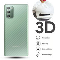 For Samsung Galaxy Note 20 Ultra Carbon Fiber Sticker Soft Back Film Protector