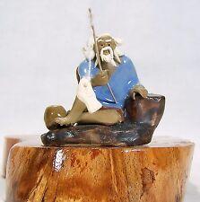 Bonsai Figur Angler 14 Asien Figuren Deko Koi Asiatika Keramik