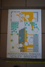 A1 Ancienne affiche de 1992 Pistache Tournoi volley BREDENE internationnal