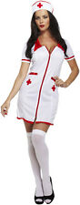 Womens SEXY NURSE Fancy Dress Party Ladies Hen Night Costume
