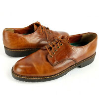 HS Trask USA Made Brown Leather Oxford Dress Shoes, Mens Size 8M