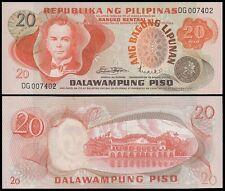Philippines 20 Pesos, 1974-1985, P-155a, UNC