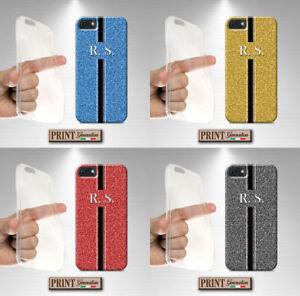 Cover per,Iphone,STAMPATA EFFETTO glitter,silicone,morbido,iniziali,chic,custodi