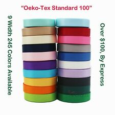 """Double Face Satin Ribbon Eco-friendly 1/4"""" 3/8"""" 1"""" 2"""" 4"""" 245 Colors 100 Yards"""