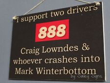 Craig Lowndes v Mark Winterbottom V8 Supercars Holden Ford Commodore Sign