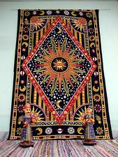 Twin Psychedelic Tapestry Celestial Sun and Moon Tapestries Zodiac African Art