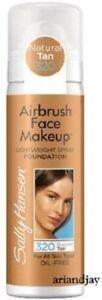New Sally Hansen Airbrush Face Makeup Foundation Natural Tan 320