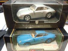2 seltene Porsche 911 (993) Carrera Coupé von Bburago 1:18 neu OVP
