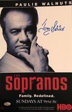 """Tony Sirico """"The Sopranos"""" Paulie Walnuts Autographed 11x17 HBO Poster w/JSA COA"""