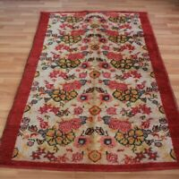 Viintage Turkish Authentic Kilim Rug 3x6ft Hand Knotted Wool Floral Floor Carpet