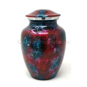 Cremation urn Aluminium Patriotic Shimmer Medium for Ashes