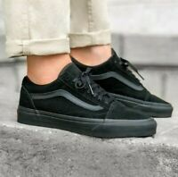 VANS Old Skool Black/Black Classic Skate Shoes Mens Sizes
