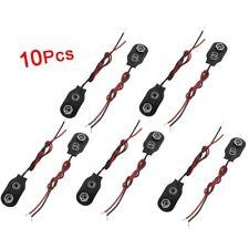 10 x Cascara de Cuero Imitacion 2 Cableado 9V Conector de Bateria H1M6