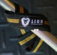 Weightlifting Straps - Gold - BodyBuilding - Lifting Straps Fitness