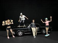 Skateboarders Figurines 4 Pc Set 1/18 American Diorama  00004000 38240-38241-38242-38243