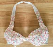 JEAN ROGERSON JRS Festival Shell/Pearl Bead Embellished Mermaid Bikini Top UK 10