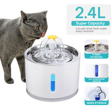 2.4L Automatic Electric Pet Water Fountain Cat Dog Drinking Dispenser w/ Filter