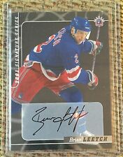 BRIAN LEETCH 2000/01 BE A PLAYER SP AUTOGRAPH