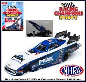 New Racing Champion 1/64th Die Cast Car John Force 2019 Peak Camaro Funny Car