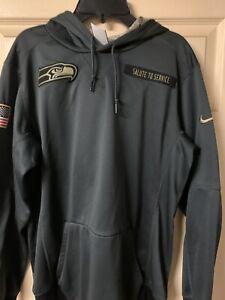 Seattle Seahawks Nike  Salute to Service Sideline Hoodie Adult Men Small