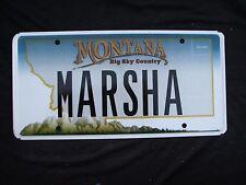 "MONTANA  VANITY LICENSE PLATE "" MARSHA "" MARSHA  MARSHA BRADY BUNCH MARCIA"