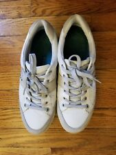Ecco Mens Golf Street White Leather Sneakers EU 42 US 8-8.5 fit 9D