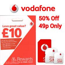 Vodafone Sim Card Pay As You Go Standard Micro & Nano Sim 49p Only