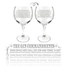 Ginsanity 22oz (645ml) Gin Balloon Glass Cocktail - The Gin Commandments