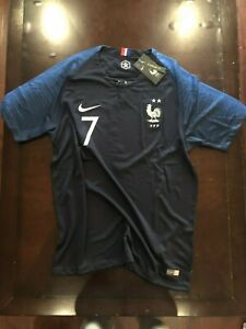 Griezmann Jersey France Home (Blue): Size Large