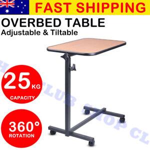 Overbed Table Bedside Mobility Study Medical Hospital Laptop Meal Adjustable AU