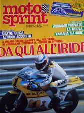 Motosprint n°23 1983 Test Yamaha XJ 400 Z - Eddie Lawson  [GS50]
