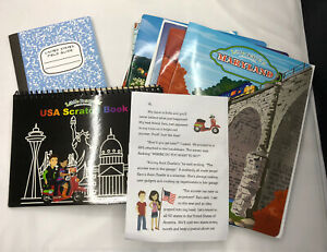 Little Passports USA Edition 10 States, Field Guide, Map