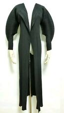 Stunning!Issey Miyake Pleats Please long coat/cardigan. sculpted sleeves.black