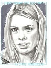Dr Doctor Who Chris Henderson Sketch Card of Rose Tyler