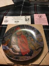 """""""Little Red Riding Hood"""" by Gregory Perillo Certificate of Authenticity plate"""