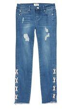 Hudson Girls' Etta Lace-Up Skinny Ankle Jeans - Big Kid Size- 14