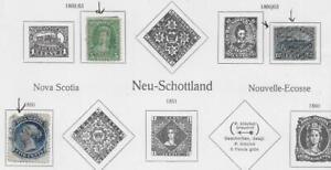 3 New Brunswick & Nova Scotia Stamps from Quality Old Antique Album 1860-1863