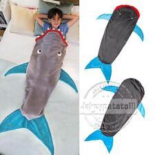 UK Kids Shark Mermaid Tail Fleece Blanket Soft Snuggle-in Sleeping Bag Costume