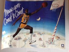 RARE POSTER CONVERSE VINTAGE MAGIC JOHNSON // MAGIC GOES COAST TO COAST