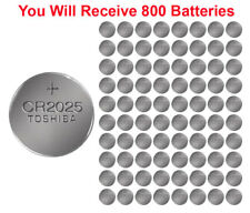 800x Toshiba CR2025 Batteries 3v Lithium Coin Battery Bulk Wholesale Lot FRESH