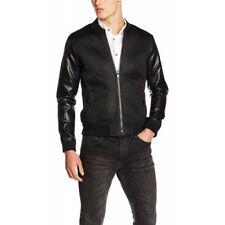 BL7CK Men's Berwick Bomber Jacket Coat Black Size L New With Tags
