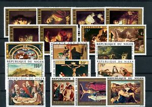 [G42126] Niger Art Paintings Good lot Very Fine MNH stamps