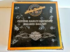 Harley-Davidson Custom Billiard Ball Set Roadhouse Collection PreOwned