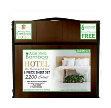 Aloe Vera Bamboo Bed Sheet 6 PIECE SET!!! Queen Size DEEP POCKETS Wrinkle Free!!